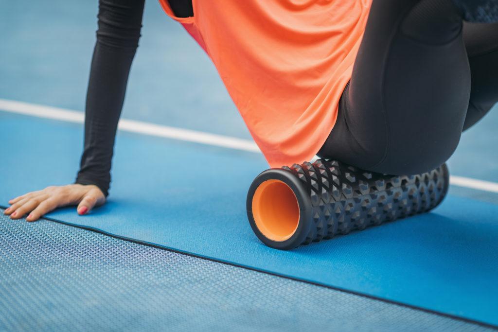 exercice avec le fascia roller